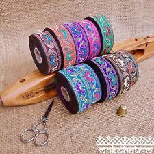 Traditional Indian Asian Floral Jacquard Ribbon Trim MA129