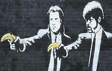 Banksy Street Art Pulp Fiction Poster Print A0-A1-A2-A3-A4-A5-A6-MAXI 012