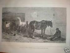 Pour la vente Briton Rivière Horse Fair print 1870