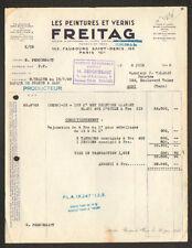 """PARIS (X°) USINE D'EPINAY-VILLETANEUSE de PEINTURES & VERNIS """"FREITAG"""" en 1948"""