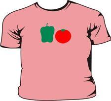 Poivron vert rouge tomate T-shirt pour enfant rose
