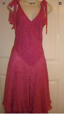 Express Celia Birtwell Pink Dot Silk Maxi Long Dress. Size: 2,4,6
