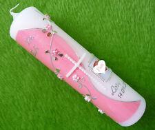 Taufkerze Mädchen Foto rosa