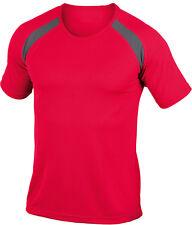 Hanes Rojo Liso Contraste Poliéster Deporte Camiseta
