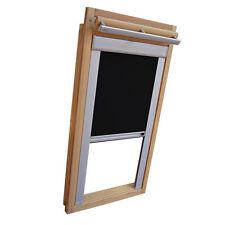 Verdunkelungsrollo mit Schienen für Velux-Dachfenster GGL/GPL/ in Thermo schwarz