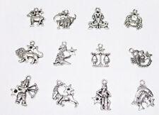 ciondolo segno zodiacale in metallo  colore argento tibetano bijoux