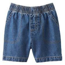 Jumping Beans Toddler Boy 2T-4T Denim Pull On Elastic Shorts Medium or Dark Wash