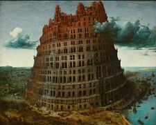 Pieter Bruegel El Viejo-Torre De Babel Vintage Fine Art Print