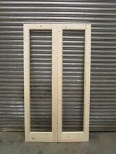 Wooden French Door Pair Unglazed