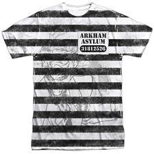 Batman Joker Prisoner Uniform 1-Sided Sublimation Print Poly T-Shirt Adult S-3XL