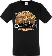 T-Shirt noir avec Hot Rod US voitures US &`50 Motif Style Modèle Whiskey épais