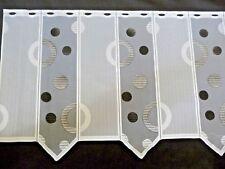 Scheibengardine Bistrogardine Modern Kreise Grau Weiß Meterware 60 cm hoch 1lfdm