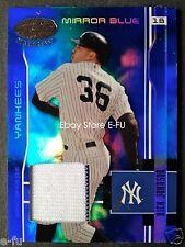2003 Leaf Certified Materials NICK JOHNSON GU Yankees Pinstripe Jersey #ed 8/100
