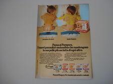 advertising Pubblicità 1980 PANNOLINI PAMPERS