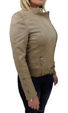 veste veste femme en daim beige casual en daim taille S M L XL XXL
