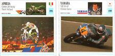 SCHEDA MOTO MOTORCYCLE CARD YAMAHA YZR 500 GP - APRILIA CLIMBER 280 RACING
