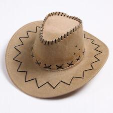 UNISEX FASHION COWBOY CAP SOLID COLOR WIDE BRIM HAT FOR FANCY DRESS PARTY  BOWL 005103a16353