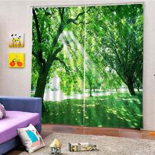 2 Panel Darkening Blackout Window Curtains Shade Bath Drape Curtain Valance