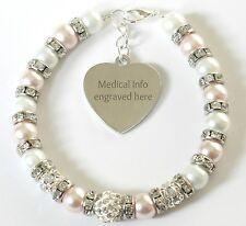 Medical Alert Bracelet Engraved Warfarin User Any Condition Allergy Info