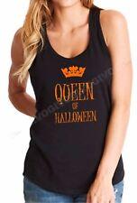 Tank Top Queen Of Halloween T Shirt Funny Costume Humor Crown Tee T-shirt