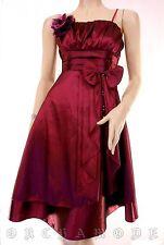 Robe EMAMODA Soirée satin fuchsia broche bijou Fête T 38 M 2 + 40 L 3 NEUF Dress