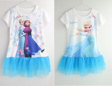 FROZEN girls dress short sleeve Elsa top t-shirt FROZEN girls summer