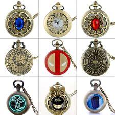 Steampunk Pendant Chain Retro Gift Antique Quartz Pocket Watch Vintage Necklace