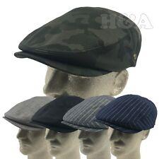 Men's 100% Cotton Newsboy Paperboy Snap Bill Hollywood Ivy Golf Cap Hat