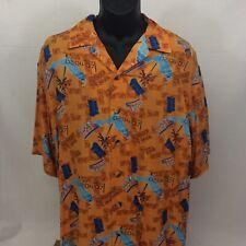 NFL Super Bowl XLI 2007 Button Down Hawaiian Shirt Colts Bears Florida Large NEW