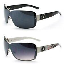 9e024bf276 Escudo De Metal Tonos Khan de Moda para Hombre de Diseñador Gafas De Sol  Nuevo