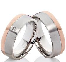 Eheringe Trauringe mit echtem Diamant Verlobungsringe mit Lasergravur B138