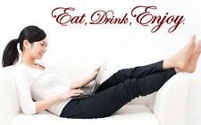 Mangiare bere godere-cucina, sala da pranzo incredibile vinile adesivi murali di alta qualità