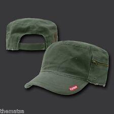 OLIVE PATROL FATIQUE MILITARY WITH ZIPPER CASTRO CADET BDU  HAT CAP