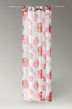 Schlaufenschal Schlaufenvorhang Vorhang BxH 140x245cm Landhaus-Stil-Gardine Rose