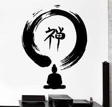 Wall Decal Enso Zen Circle Buddha Buddhism Sitting Yoga Om Vinyl Sticker (z2867)