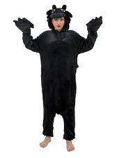 Xmas Black Flying Dragon Onesie Kigurumi Fancy Dress Costume Pajama Sleep wear