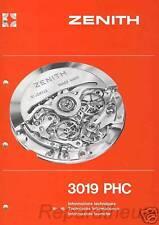 Calibre Zenith El Primero 3019 PHC Rolex Daytona 4030 Manuel Manual Watchmaker