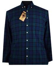Spionaggio Blu Scuro/Verde Tartan Camicia a maniche lunghe 2XL3XL4XL5XL6XL7XL8XL