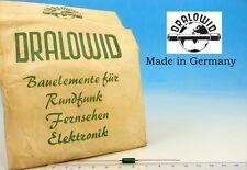 10x Vintage DRALOWID Germany RESISTOR  60's 3.3mOhm 3,3 mOhm 5% 0.5W 1/2W 0,5W