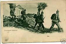 AK-1.WK.-Soldaten-Mit Pickelhaupe-Vorgehende Infantrie-