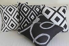 "Art Deco Vintage Black and White Set Home Linen CUSHION COVER PILLOW CASE 18"""