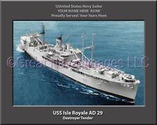 USS Isle Royale AD 29 Personalized Canvas Ship Photo Print Navy Veteran Gift