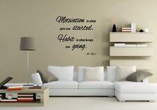 JC Design motivazione è quella che ti ha iniziato Adesivo parete MOTIVAZIONALE Decalcomania del Regno Unito