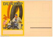 POSTCARD GERMAN DUNLOP TIRES MOTORCYCLE & BICYCLE ADVERTISING