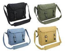 Mens Army Combat Military Canvas Travel Shoulder Messenger Surplus Bag Satchel