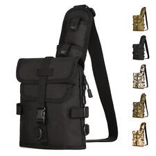 Men Nylon Messenger Shoulder Bag Tactical Military Assault Sling Chest Back Pack