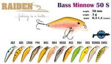 Leurre poisson nageur Bass Minnow 50S RAIDEN pêche truite chvesne perche chub