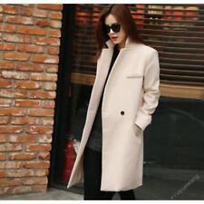 Korean Women Winter Warm Wool Mid Long Slim Trench Parka Coat Jacket Outwear new