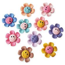 6pcs Assorted Mix Flowers Kawaii Flatback Cabochons Embellishment Decoden Craft
