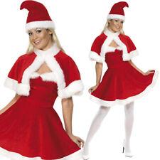 Madame Noël Déguisement Costume avec chapeau Sexy Rouge Tenue De Smiffys 33317
